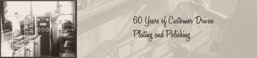 60 Years of customer driven plating and polishing